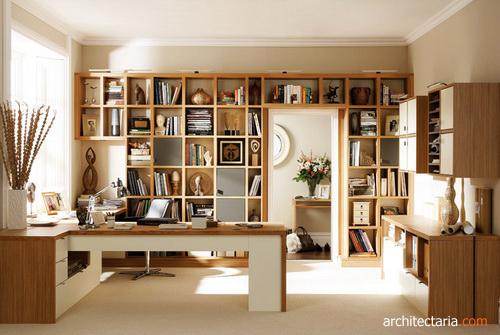 desain interior dan furniture ruang kerja view 2