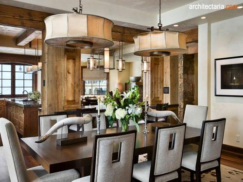 desain interior dapur dan ruang makan mewah 2