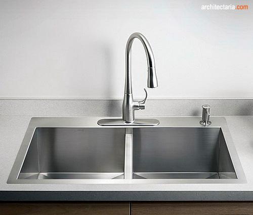 Kitchen Sink Modern Yang Bersih Dan Elegan