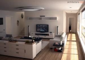 desain interior ruang tamu sempit 2