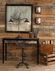 dekorasi interior rumah bergaya rustic dipadukan dengan