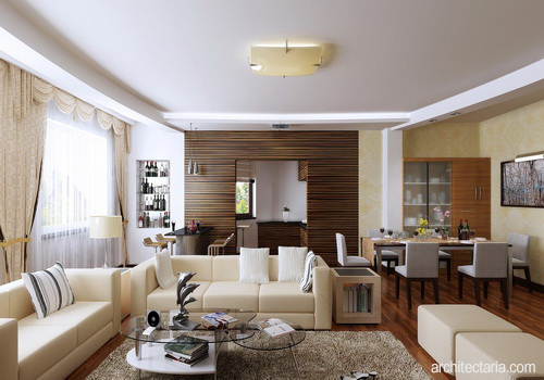 Desain Interior Ruang Keluarga Dan Makan 1