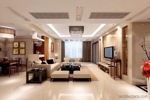 Desain Interior Ruang Keluarga Dan Makan 2