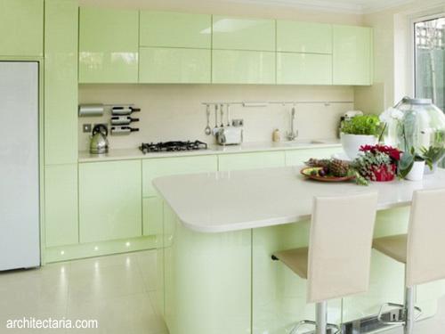 Desain Dapur Warna Pastel 1
