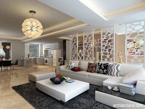 Desain Interior Ruang Tamu Bera Modern 2